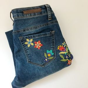 [ v e r s a c e  : 1969 ] floral embroidered jeans